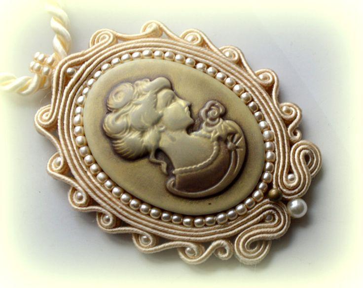 medalion sutasz kamea, styl vintage  w ART TEREZA na DaWanda.com