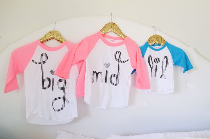 Sibling shirts for hospital bags!  Great List!! Hospital Bag & Diaper Bag from a Mama of 3 ( plus nurse gifts, sibling gifts, after birth essentials in ONE post)
