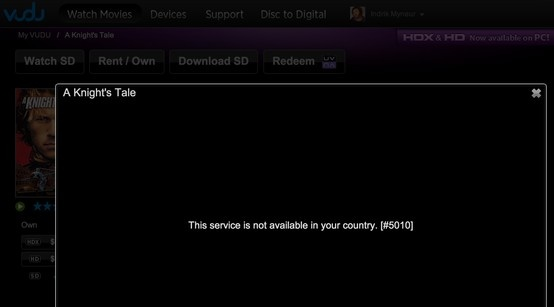 Service is not available in your country.