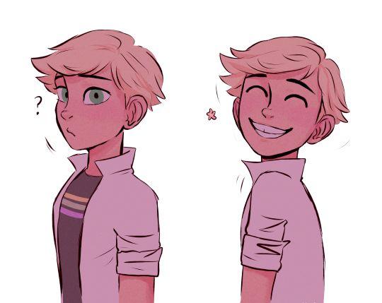 Adrien smiling!!!!!!!!!si cute