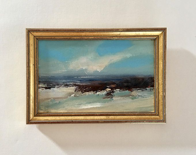 Small ORIGINAL scenery PAINTING framed signed