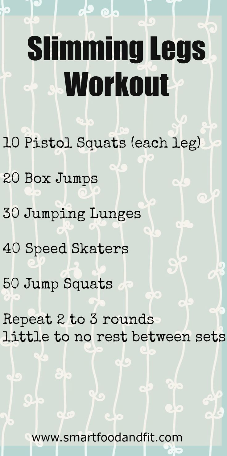 Slimming Legs Workout {Fitness Friday}
