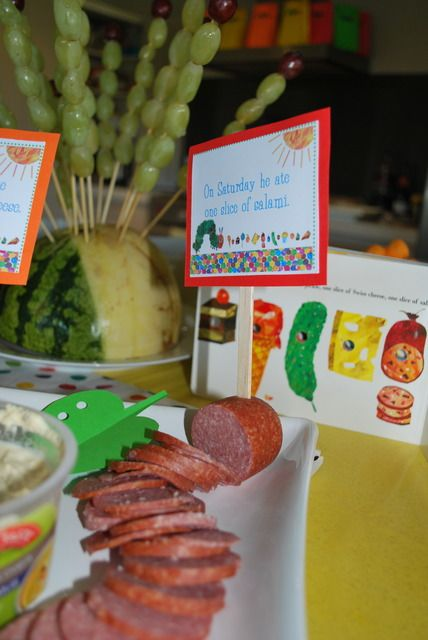 The Very Hungry Caterpillar, by Eric Carle Birthday Party Ideas | Photo 17 of 26