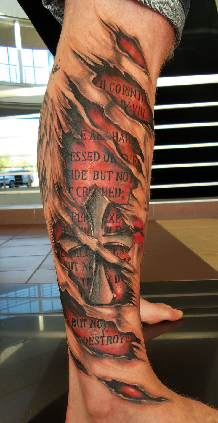 Cross/skin rip Tattoo by Angelo @ Rising Dragon Tattoo. Fourways. Johannesburg. joburgink@gmail.com, 0114677350