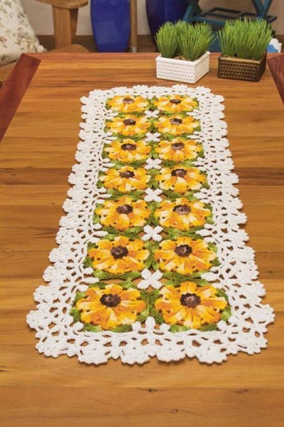 60 Crochet Table Runner Patterns The Funky Stitch Best Crochet Table Runner Pattern