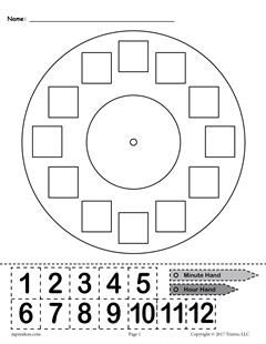 "FREE Printable ""Build a Clock"" Telling Time Activity ..."