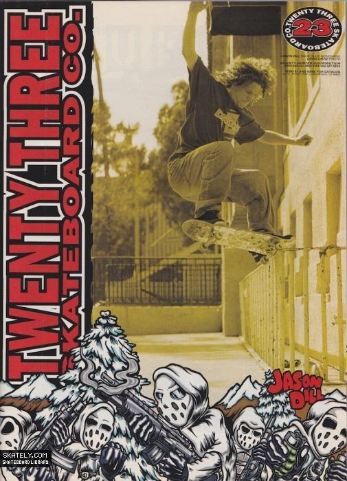 23 Skateboards - Jason Dill Ad (1997)