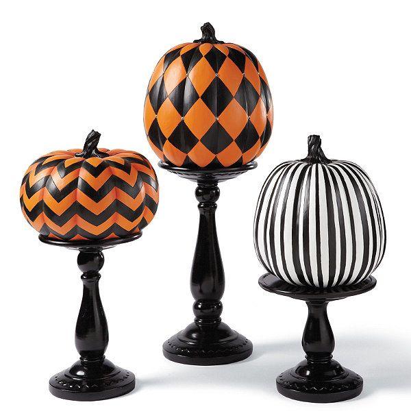 Designer pumpkins artsy and dining room tables