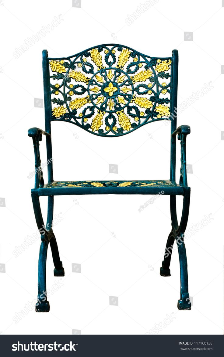 Alloy ornate patio chair isolated with clipping path