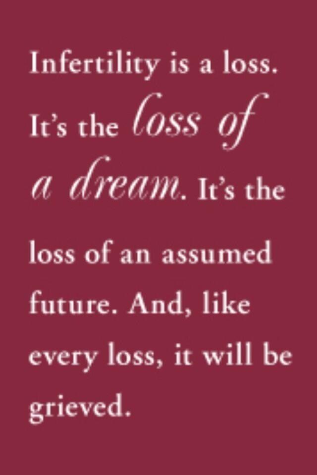"""""""Onvruchtbaarheid is een verlies. Het verlies van een droom, het verlies van het leven dat je voor ogen had."""""""