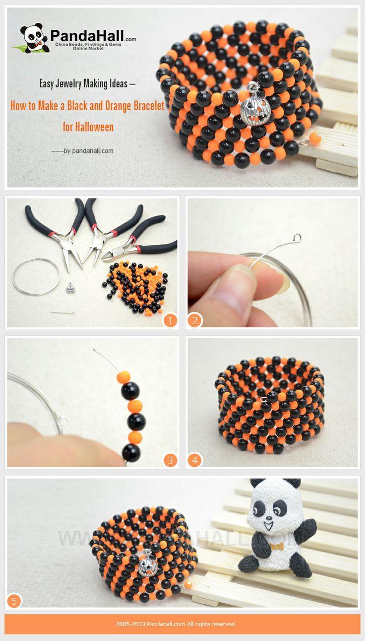 Jewelry Making Tutorials Diy Refashion Jewelry Ideas Pinterest Halloween Bracelets And