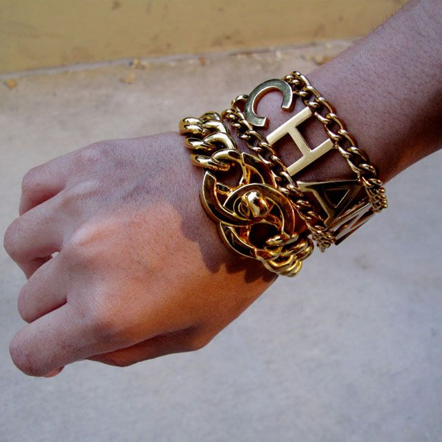 bling: Arm Candy, Chanel Bracelets, Fashion, Style, Jewelry, Gold, Accessories, Vintage Chanel