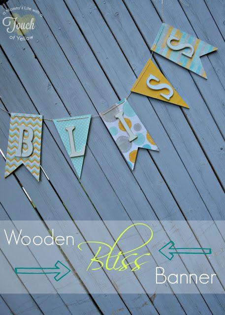 DIY wooden banner...nursery name idea.