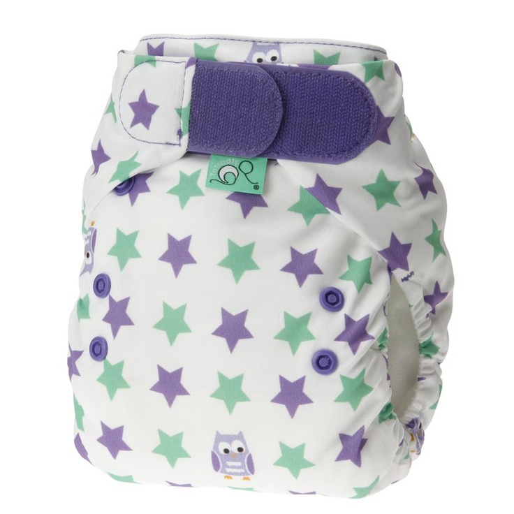 Tots Bots V3 aplix Print Easyfit nappy, Elements prints - Night Owl