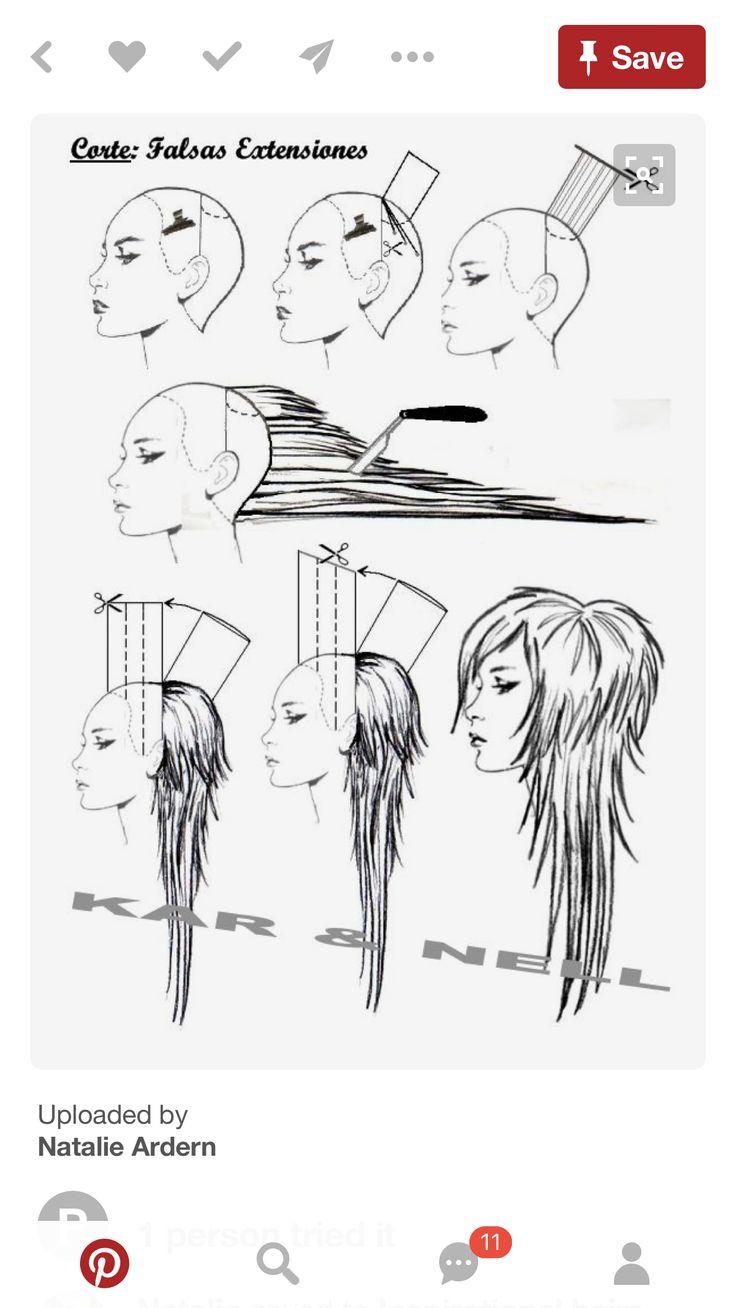 68 best diagram haircut images on pinterest
