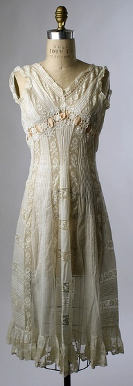 Historical fashion inspiration | www.myLusciousLife.com - Chemise Date: 1908 Culture: French via the Met Museum