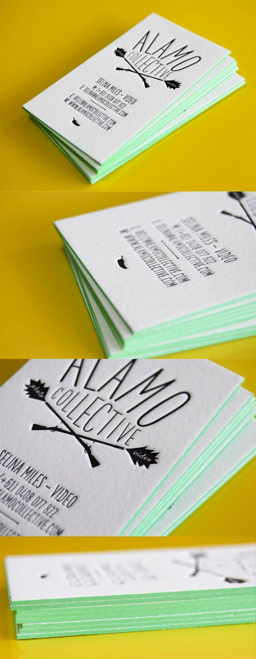Subtle Edge Painting Brings A Black And White Letterpress Business Card To Life