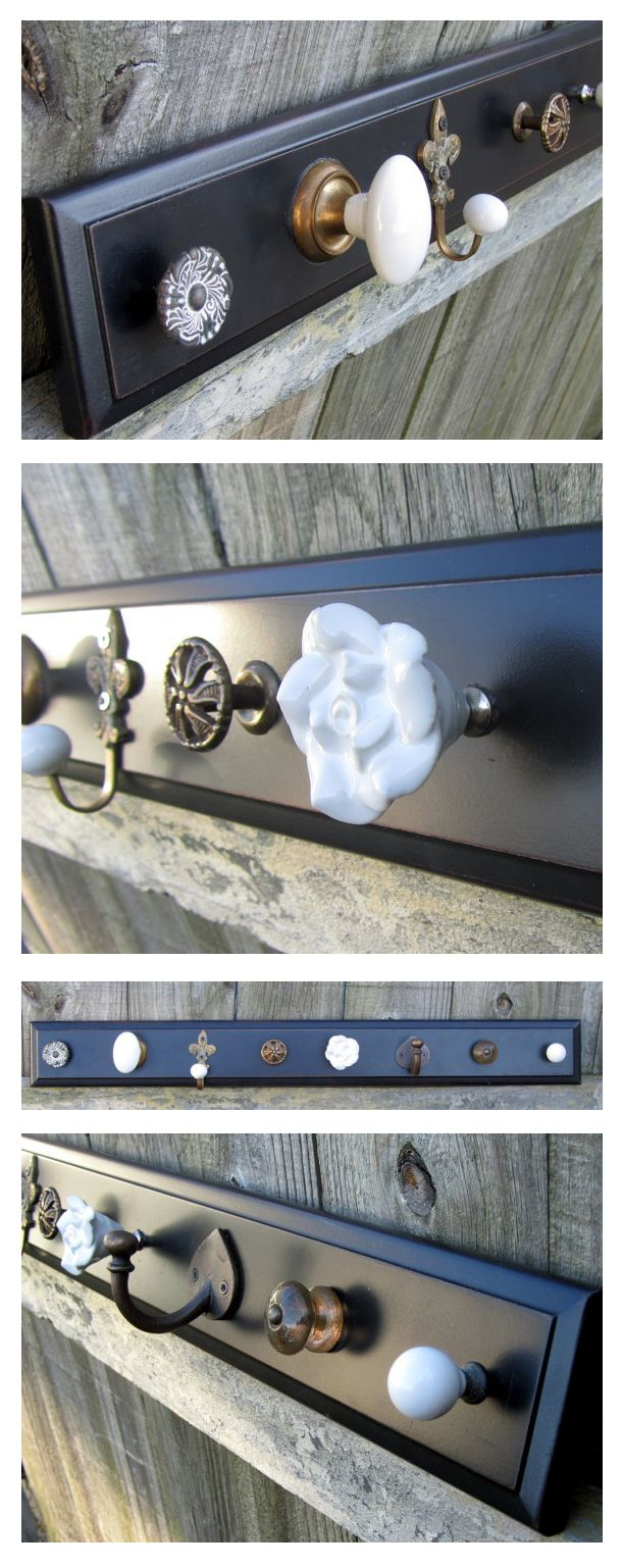 Knob and Hook Jewelry Rack