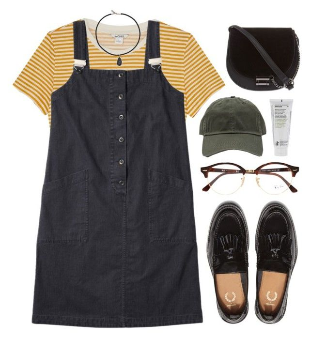 """""""Untitled #695"""" by soym ❤ liked on Polyvore featuring Monki, Korres, Vanessa Mooney, Skinnydip and Ray-Ban"""
