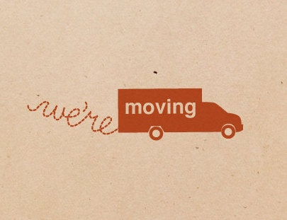 "Personalized ""we're moving"" card #modern #kraft #fab"