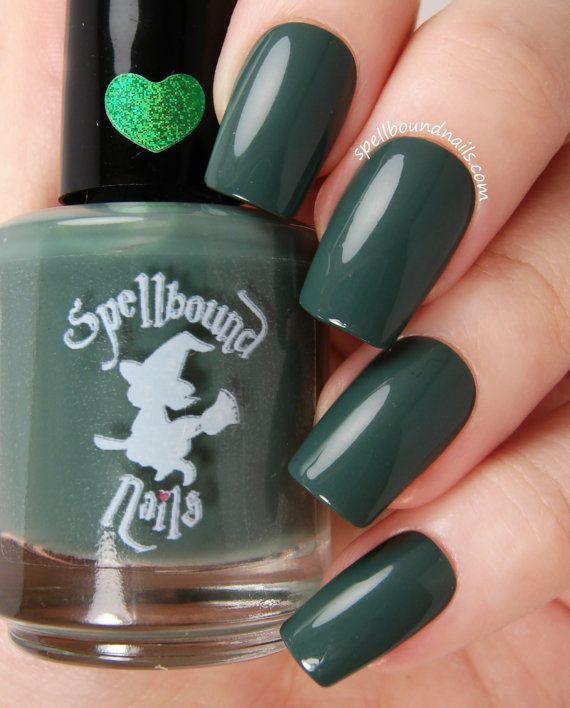 Salamander – Dark Green Creme Nail Polish