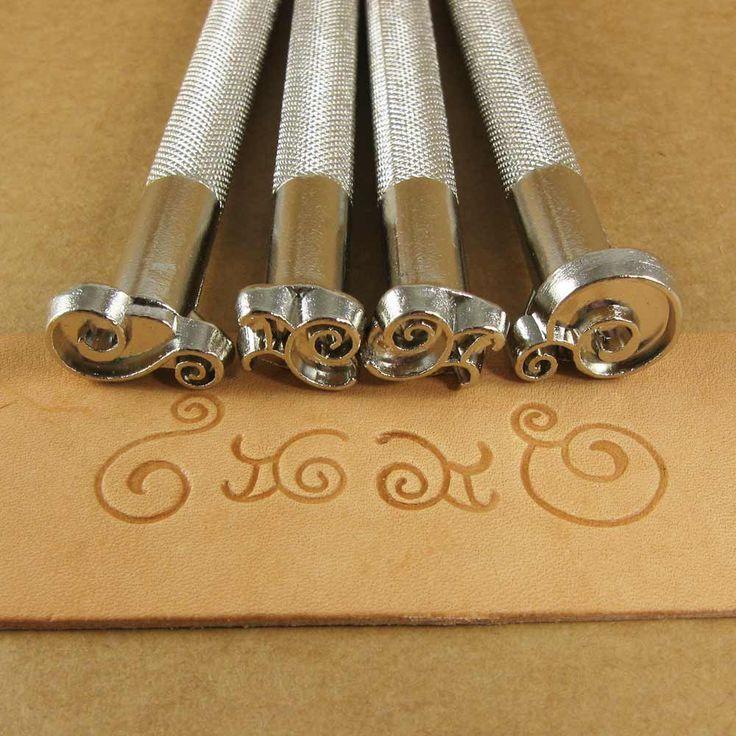 Scrolls Leather Stamp Set - Set of Four Metal Stamps. $35.00, via Etsy.