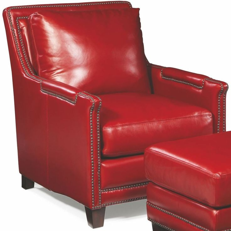 $1094, Prescott Supple Red Leather Chair