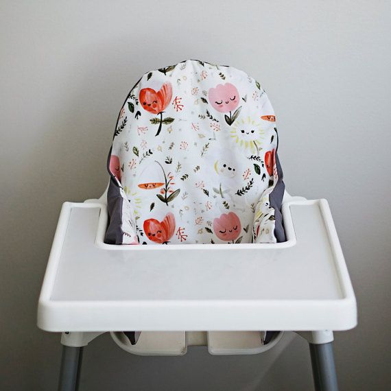 Happy Flowers // IKEA Antilop Highchair Cover // by YeahBabyGoods
