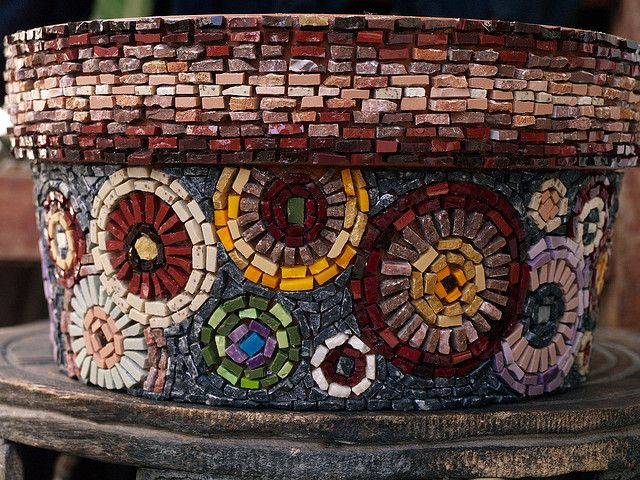 Flower Pot with Circles - working progress   Flickr - Photo Sharing!