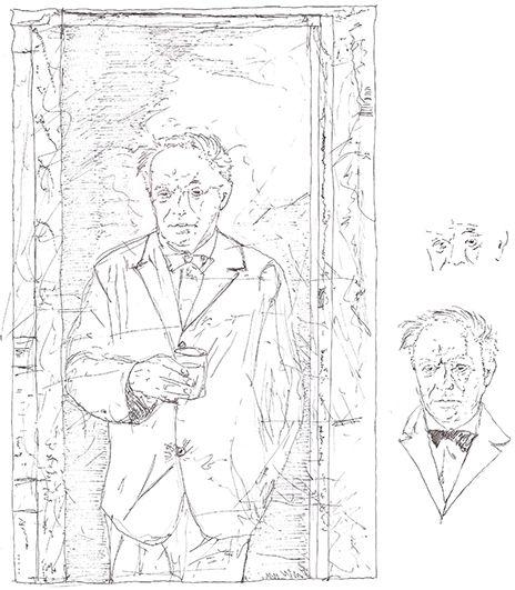 Gio Ponti | drawn by Riccardo Salvi