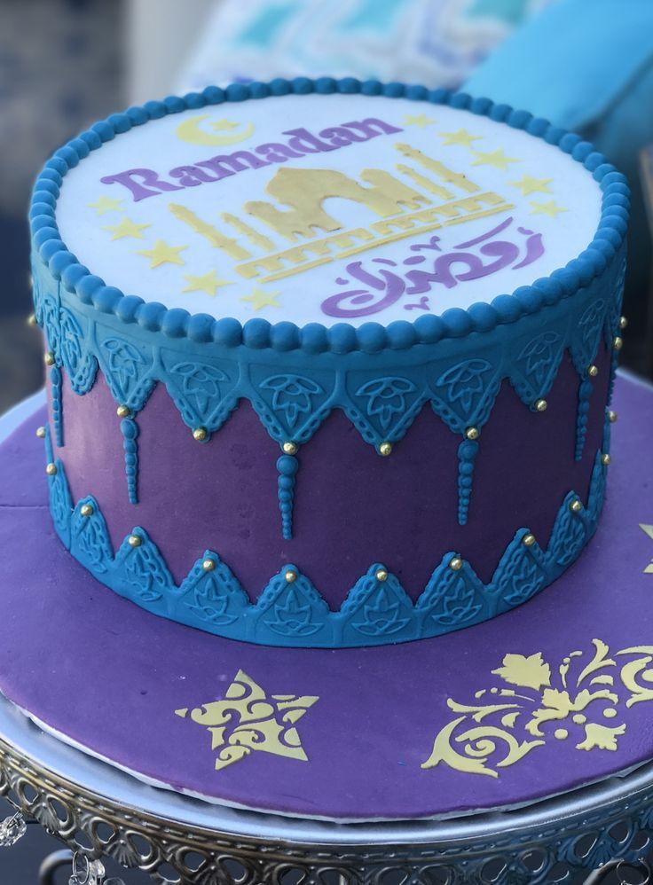 Cake made with Eidway's amazing cake stencils. They can be found at www.eidway.com #ramadan