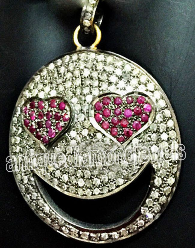 4.20ct ROSE CUT DIAMOND RUBY .925 STERLING SILVER / PENDANT #ejewelbay