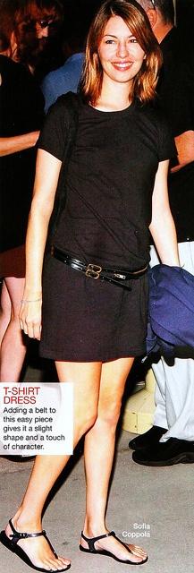 t-shirt dress + sandals = subtle chic  ::sofia Coppola