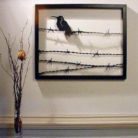 Bird on a Wire' Steel Wall Art Sculpture - Betterimprovement.