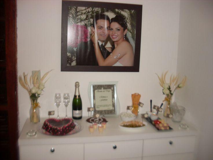 Bodas de Trigo - 3 anos de casados - romântico  http://coisasdeniquinha.blogspot.com.br/2013/06/bodas-de-trigo-3-anos-de-casados.html