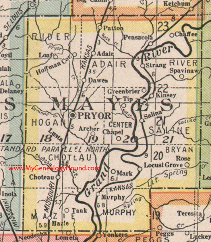 Best Vintage Oklahoma And Indian Nation Maps Images On - County map of oklahoma