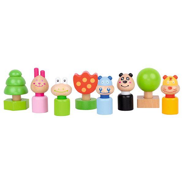 Drewniane klocki zwierzątka Moje Bambino #animals #wood #toys #kids  http://www.mojebambino.pl/klocki-konstrukcyjne/3511-lesne-miasteczko-klocki-zwierzatka.html