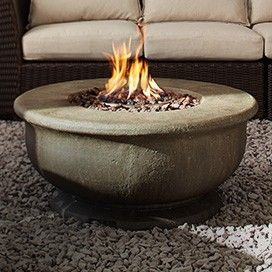 Turn warm days into warm nights with the CANVAS Birmingham Large Gas Firebowl. #MyCANVAS #patio [Promotional Pin]