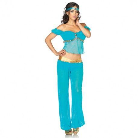 Disfraz de belleza árabe de Leg Avenue. Póntelo para hacerle la danza de los siete velos y convierte en realidad uno de sus sueños húmedos.  Cómpralo aquí: http://www.losplaceresdeadanyeva.com/es/disfraces/6079-leg-avenue-disfraz-de-belleza-arabe-714718438283.html