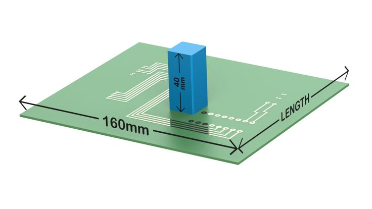 Electronic Enclosure E-Case D PCB Dimensions
