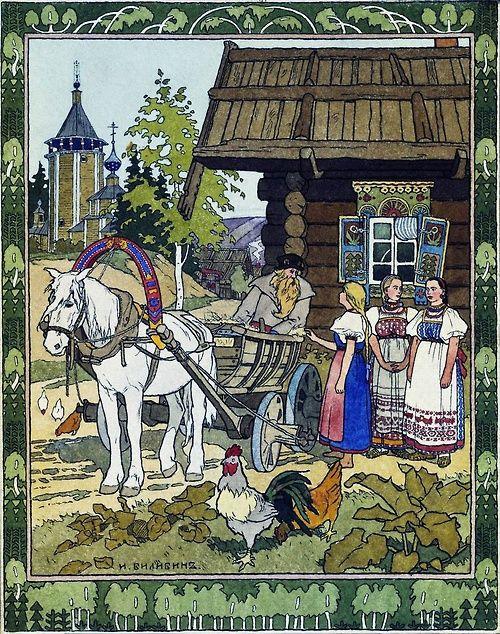 picturesque-russia: Иван Яковлевич Билибин. Отъезд отца на ярмарку