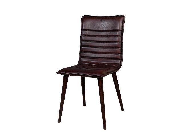 Коричневый кожаный стул в стиле ретро на ножках (Сабина Ретро Roomers) купить в интернет-магазине The Furnish