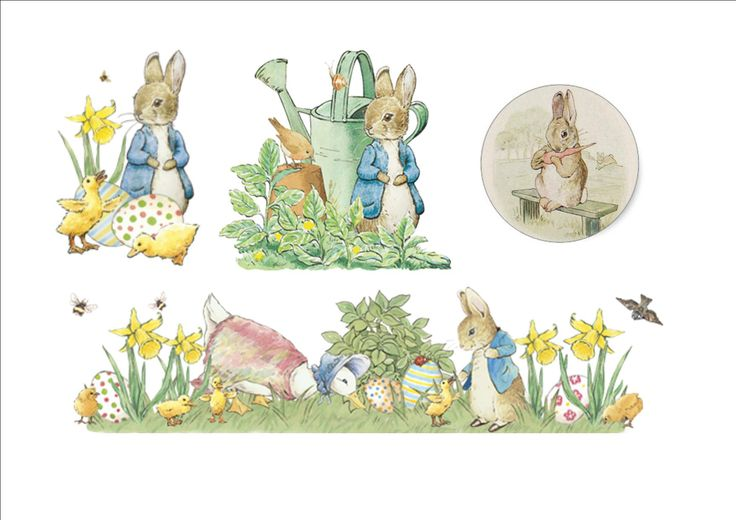 illustrazioni  pasquali : peter rabbit  di B.Potter