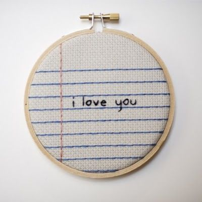 simple, embroidery hoop art