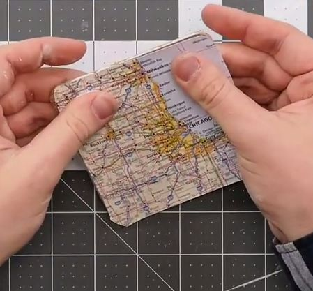 Traveler's Map DIY Coasters | Create bundles of coasters so you and your children can always reminisce in your fun traveling memories!