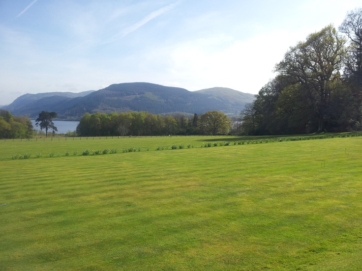 View of Bassenthwaite Lake in the Lake District from Armathwaite Hall Hotel