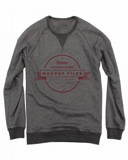 Mockup Files Crewneck Sweater Shirts With Creative Words Grey - True Love Tees !