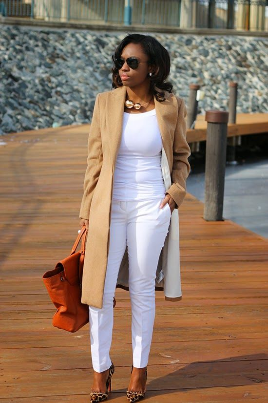 Prissysavvy This All White Outfit With Camel And Leo Printed Loubis