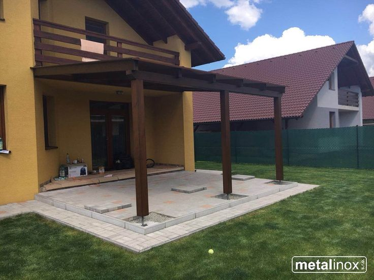 Drevený prístrešok Klasik s krytinou Lexan /Wooden shelter house with Lexan/Wooden pergola with Lexan