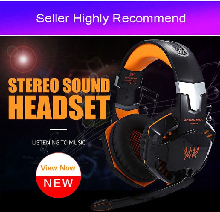 Canleen R8 Gaming Headset with Built-in Microphone LED Bass headphones Over-Ear #Canleen